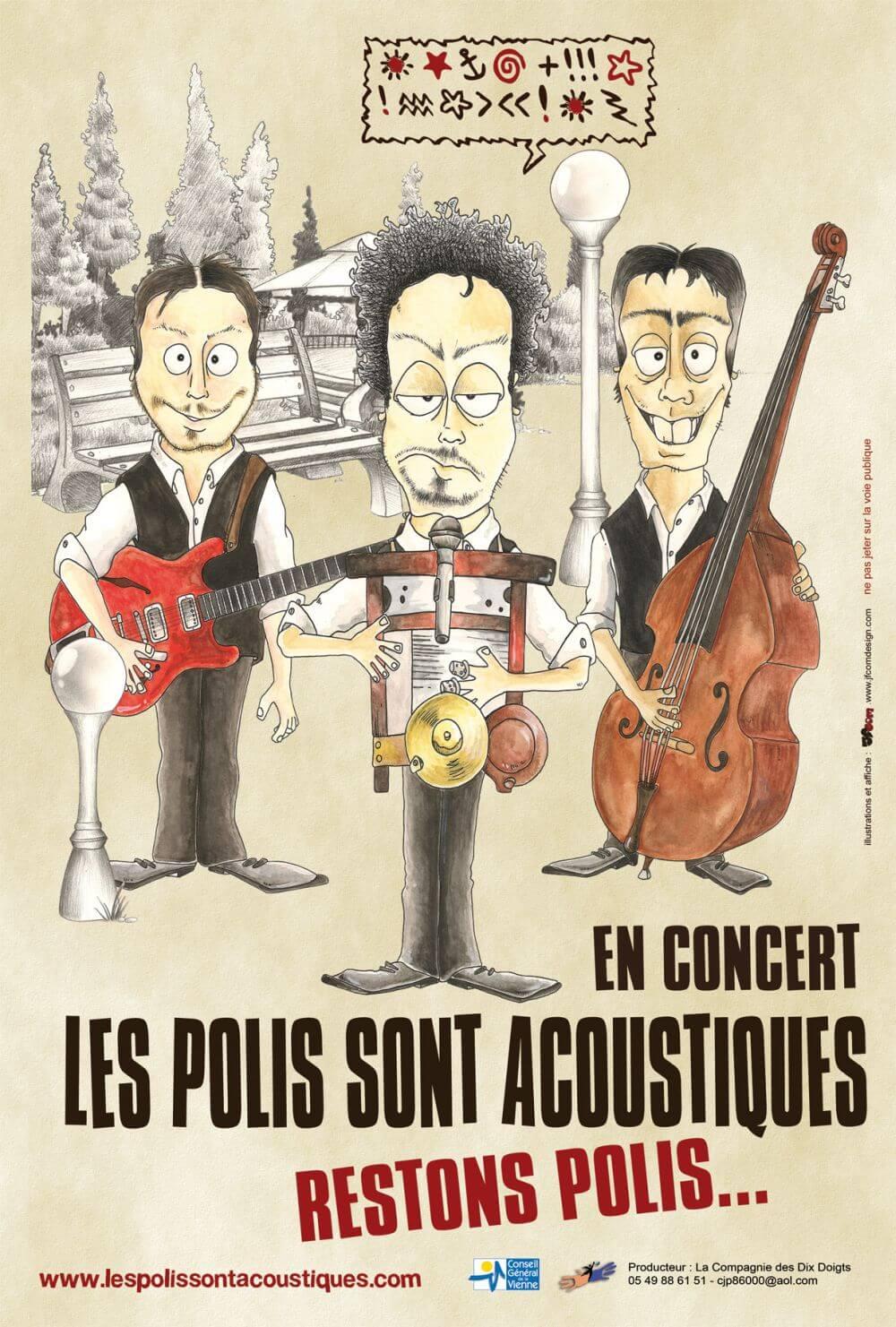 Concert:  Les Polis sont acoustiques