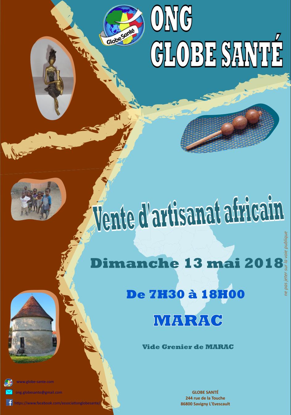 Vente d'artisanat africain à MARAC